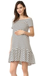 Hatch The Harbour Dress Black White Stripe