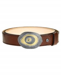 Todd Reed Leather Cuff Bracelet With Diamond Swirl Buckle