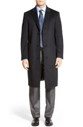 Hart Schaffner Marx Big And Tall Sheffield Classic Fit Wool And Cashmere Overcoat Charcoal