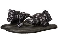 Sanuk Yoga Sling 2 Prints Black Natural Koa Tribal Women's Sandals