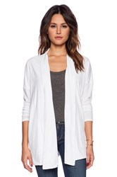 Bobi Light Weight Jersey Cardigan White