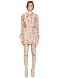 Zimmermann Folly Floral Print Silk Georgette Romper