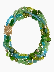 Kate Spade Sea Glass Twisted Statement Necklace Blue Green