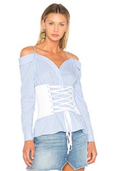 Fame And Partners Coco Corset Top Blue