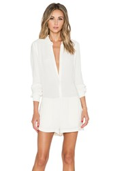 Twelfth St. By Cynthia Vincent Shirt Romper Ivory