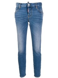 Dsquared2 High Rise Skinny Jeans Blue