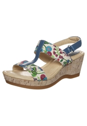 Hush Puppies Wedge Sandals Floral Textile Multicoloured