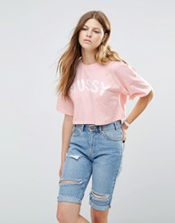 Stussy Brush Stroke T Shirt Pink