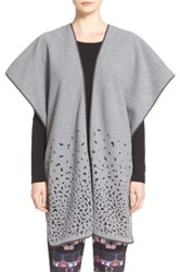 Clover Canyon Laser Cut Polar Fleece Poncho Gray