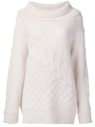 Prabal Gurung Drop Shoulder Jumper Nude And Neutrals