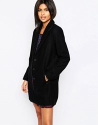 Pepe Jeans Meg Classic Black Wool Mix Coat 999Black