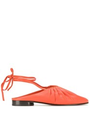 3.1 Phillip Lim Nadia Lace Up Ballet Flats Orange