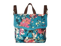 Sakroots Colette Convertible Backpack Teal Flower Power Backpack Bags Blue