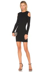 David Lerner Cold Shoulder Mini Dress Black