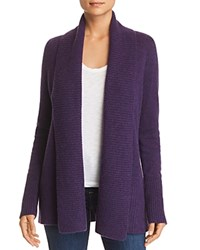 Bloomingdale's C By Shawl Collar Cashmere Cardigan 100 Exclusive Marled Plum