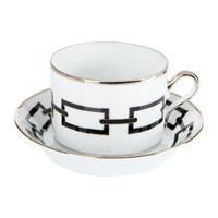 Richard Ginori 1735 Catene Nero Teacup And Saucer