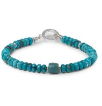 Mikia Silver Plated Turquoise Bracelet Blue