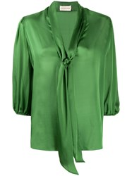 Alexandre Vauthier Relaxed Cropped Sleeve Blouse 60