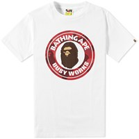 A Bathing Ape Colour Camo Busy Works Tee White