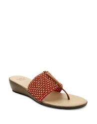 Andre Assous Nima Woven Demi Wedge Sandals Red