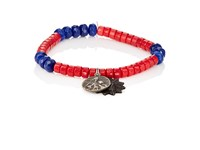 Miracle Icons Men's Charms On Beaded Bracelet Blue