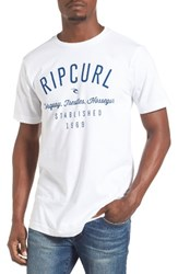 Rip Curl Men's Blender Classic Graphic T Shirt White