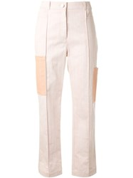 Nehera Contrasting Pocket Straight Leg Trousers 60