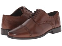 Nunn Bush Norcross Cap Toe Oxford Brown Men's Lace Up Cap Toe Shoes
