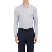 Z Zegna Micro Check Shirt Navy