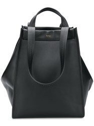 Max Mara Top Handle Tote Black