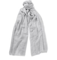 Begg And Co Wispy Cashmere Scarf Gray