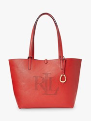 Ralph Lauren Merrimack Reversible Logo Tote Bag Red Lauren Navy