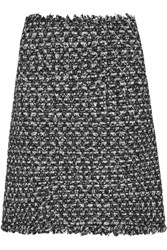 Giambattista Valli Sequin Embellished Frayed Tweed Mini Skirt Black