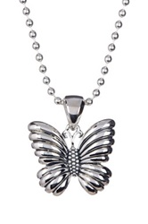 Lagos Rare Wonders Sterling Silver Butterfly Pendant Necklace Metallic