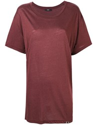 Diesel T Overy T Shirt Brown