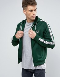Fred Perry Sports Authentic Hooded Track Jacket In Green Ivy