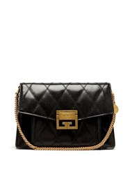 Givenchy Gv3 Small Quilted Leather Cross Body Bag Black