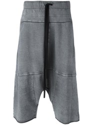 Lost And Found Ria Dunn Drop Crotch Over Shorts Grey