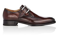 Harris Stitch Detail Monk Strap Shoes Brown
