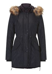 Betty Barclay Hooded Parka Blue