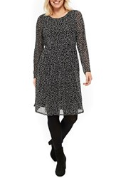 Evans Plus Size Women's Smudge Print Fit And Flare Dress