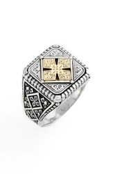 Konstantino Men's Silver And Gold Classics Square Ring