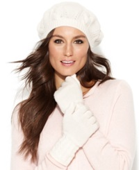 Charter Club Cashmere Cable Knit Gloves Ivory