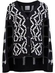 Barrie Cape Cardigan Black