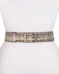Vince Camuto Snake Embossed 45Mm Belt Natural