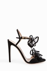 Giambattista Valli Women S Double Ruffle Strap Sandals Boutique1 Black