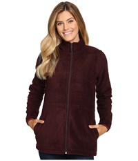 Woolrich Andes Fleece Long Jacket Burgundy Women's Coat