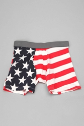 Urban Outfitters Stars 'N' Stripes Boxer Brief Red