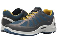 Ecco Biom Fjuel Racer Dark Shadow Petrol Bamboo Men's Lace Up Casual Shoes Blue