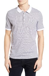 Ben Sherman Men's Geo Print Jersey Polo